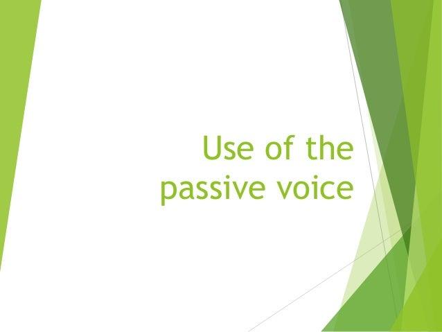 use of passive voice pdf