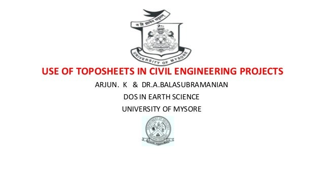 Use of toposheets in civil engineering projects
