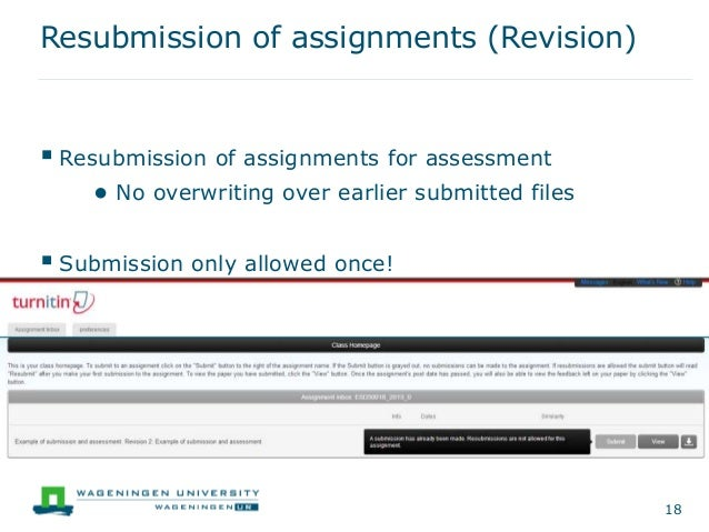 how to delete turnitin submission