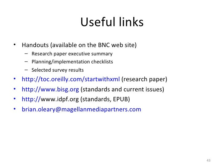 research paper on xml