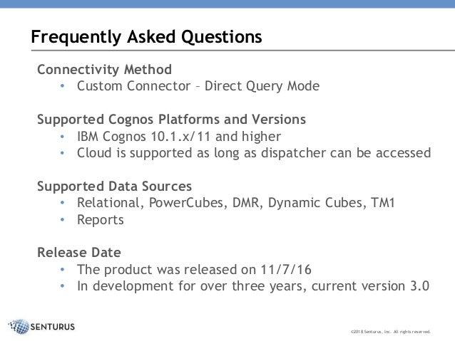 Use Power BI with Trusted Cognos Data: Senturus Analytics
