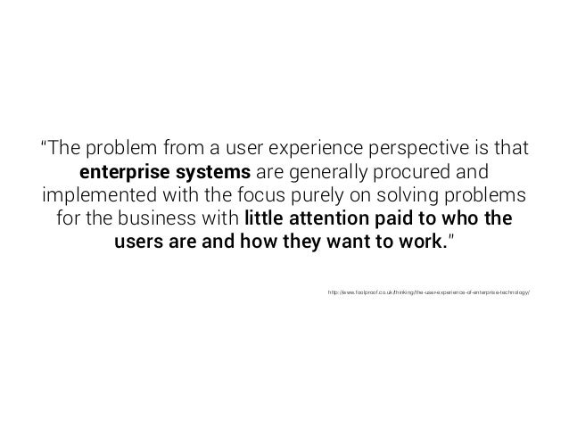 """We're focusing on  User Experience"""