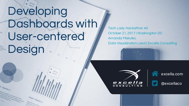 excella.com @excellaco Developing Dashboards with User-centered Design Tech Lady Hackathon #5 October 21, 2017 | Washingto...