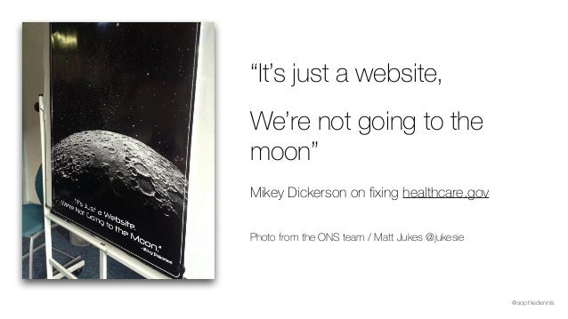 """@sophiedennis """"It's just a website, We're not going to the moon"""" Mikey Dickerson on fixing healthcare.gov  Photo from the ..."""
