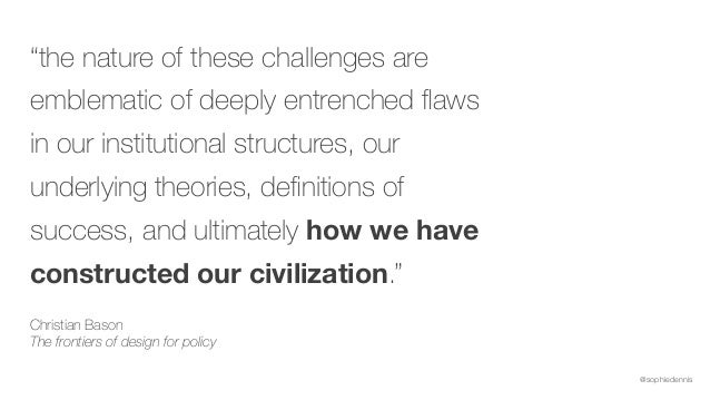 """@sophiedennis """"the nature of these challenges are emblematic of deeply entrenched flaws in our institutional structures, ou..."""