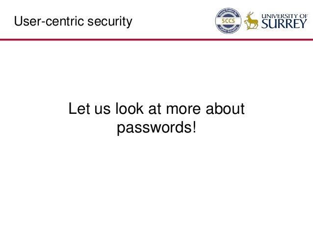 Human/User-Centric Security