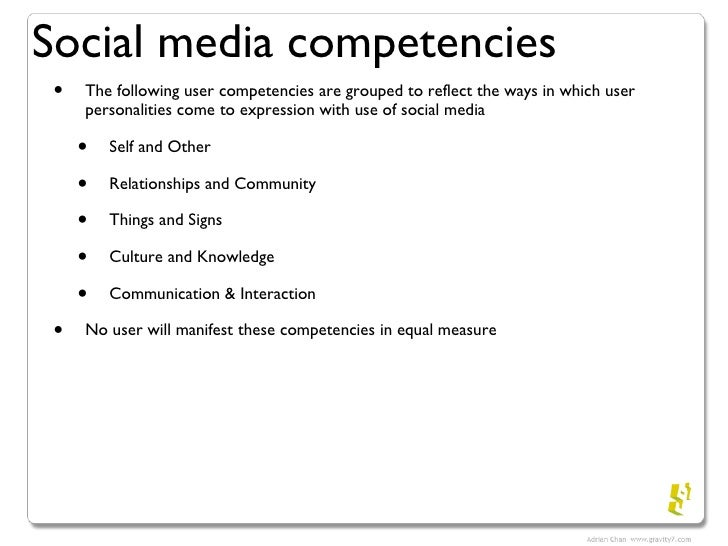 user competencies of social media user