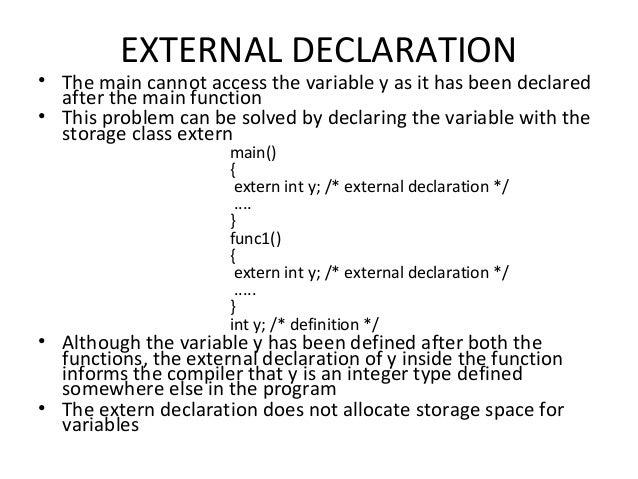 C static function declaration definition