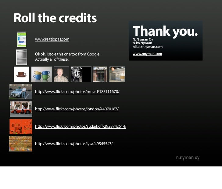 Roll the credits     www.reittiopas.com                                                          Thank you.               ...