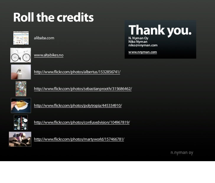 Roll the credits     alibaba.com                                                          Thank you.                      ...