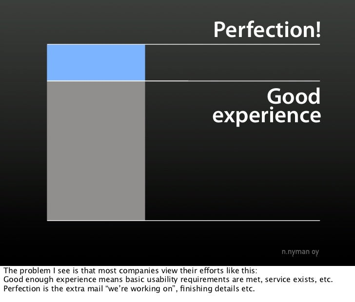 Perfection!                                                              Good                                             ...