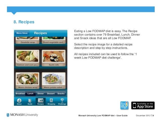 monash low fodmap diet guide