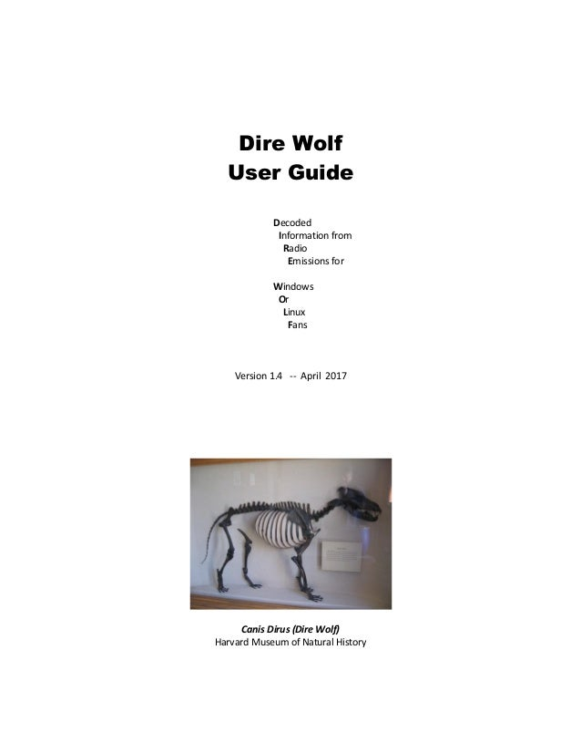 APRS Packet Modem Dire Wolf User Guide