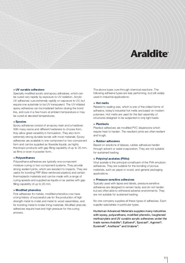 Adhesives technology - User guide