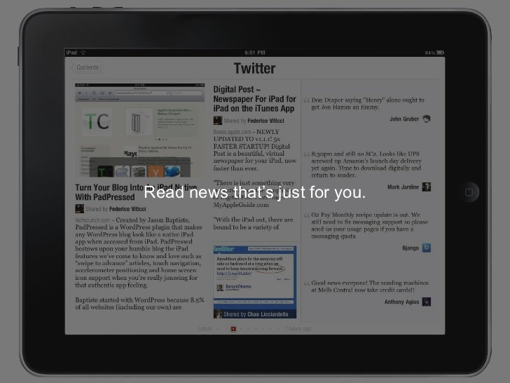 Read news that's just for you.<br />