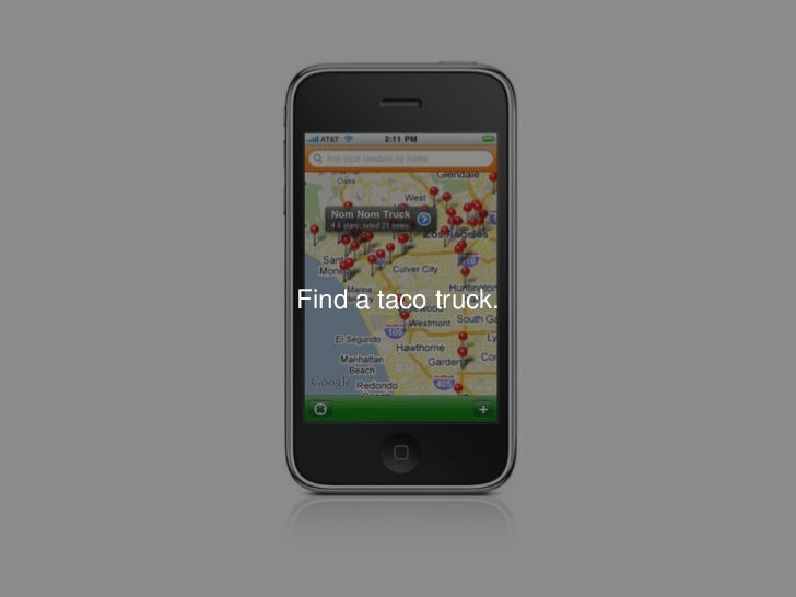 Find a taco truck.<br />