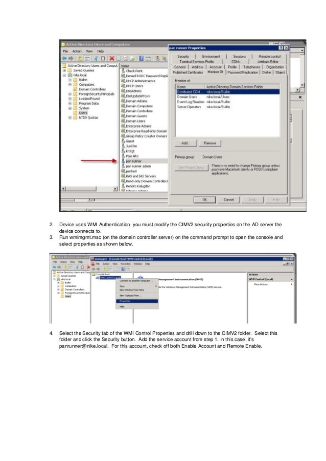 User id installation and configuration