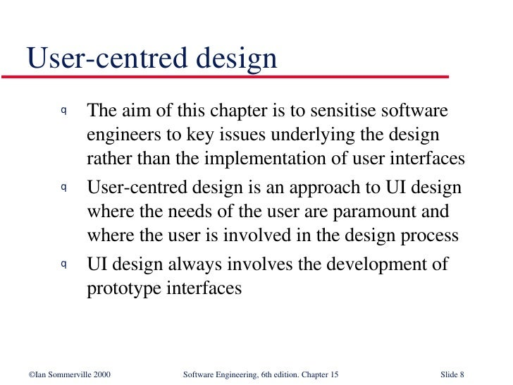 User Interface Design In Software Engineering Se15