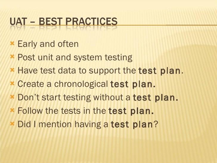 User Acceptance Testing (Uat)
