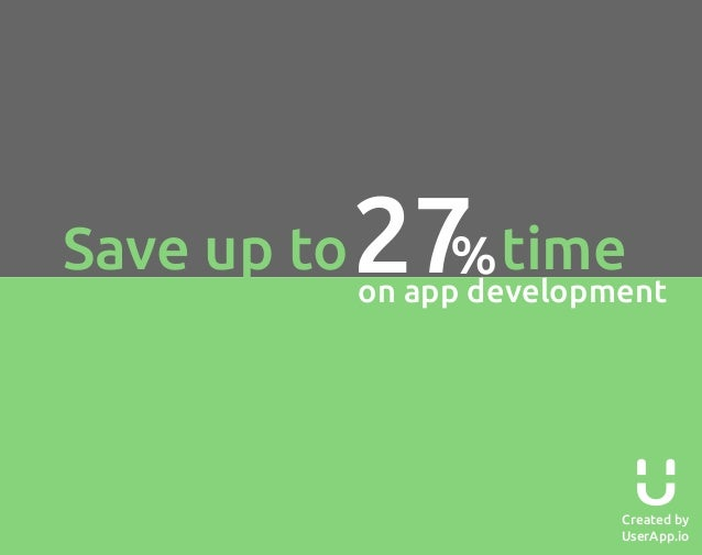 Save up to  27 time %  on app development  Created by UserApp.io
