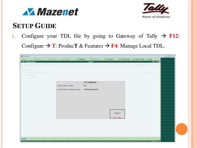 Tally Customization Tdl