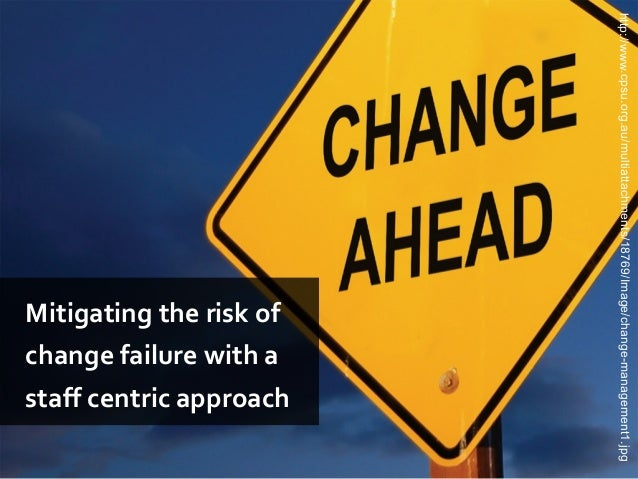 http://www.cpsu.org.au/multiattachments/18769/Image/change-management1.jpgMitigating the risk ofchange failure with astaff...