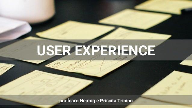 USER EXPERIENCE por Ícaro Heimig e Priscila Tribino
