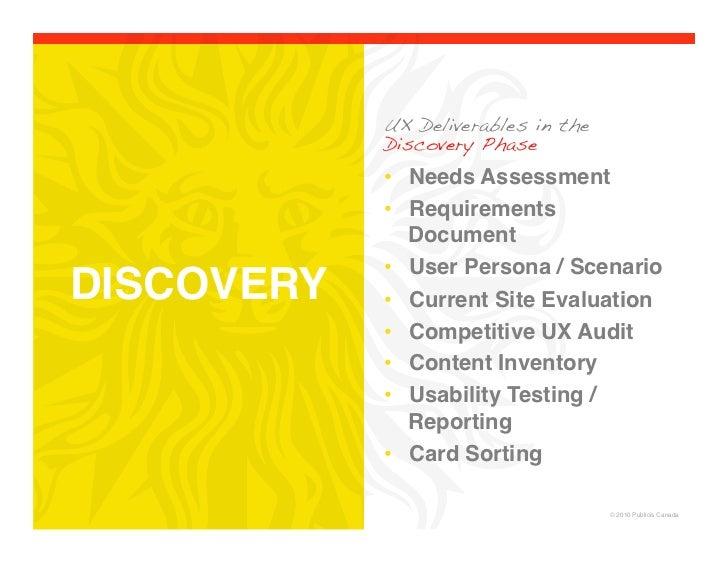 User Experience Deliverables Slide 2