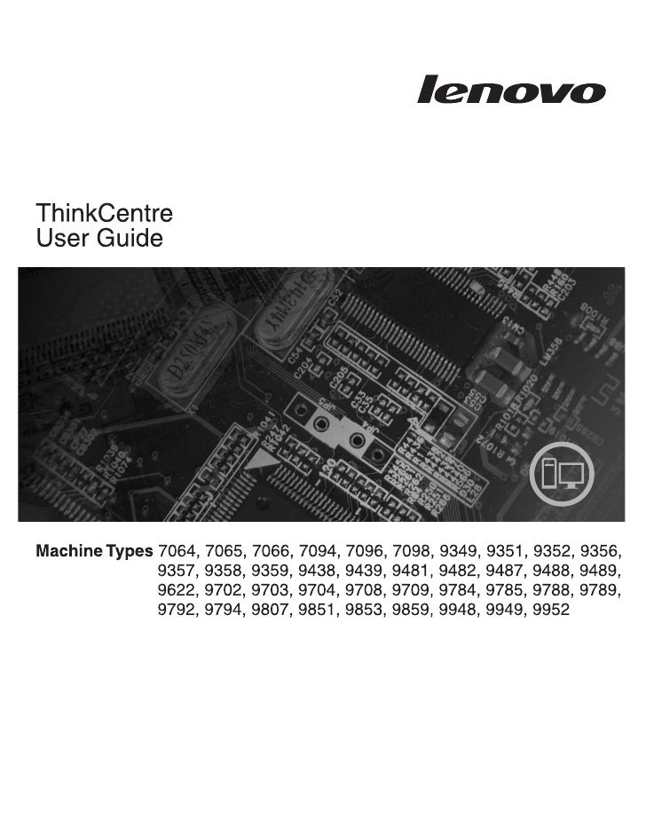 ThinkCentre User Guide