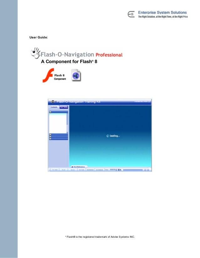 user guide flashnavigationprofessional rh slideshare net Flash 8 Interface Flash 8 Interface