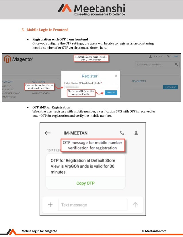 Magento Mobile Login Extension