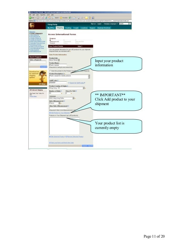 create commercial invoice click next 11