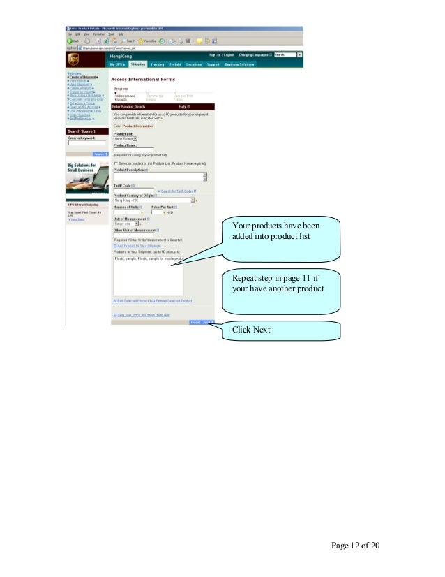 user guide ups internet shipping pt ups cardig international