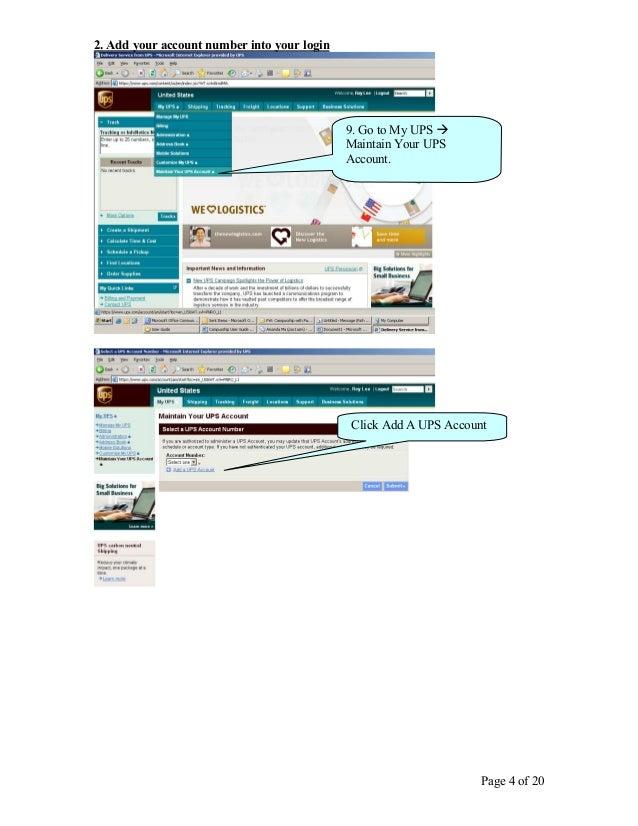 User Guide UPS Internet Shipping (PT  UPS Cardig International)