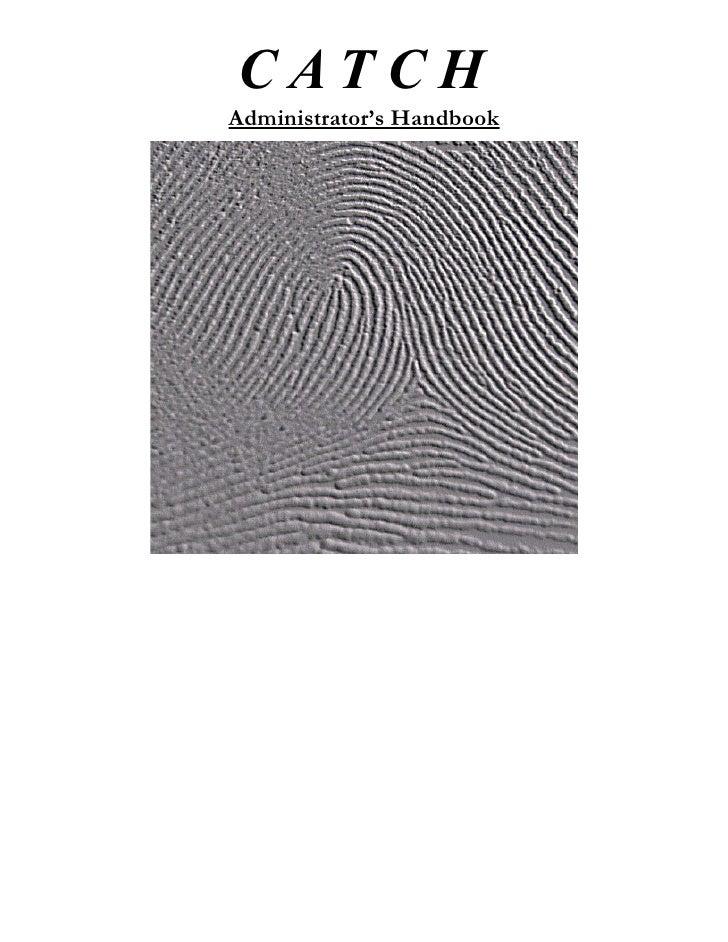 CATCH Administrator's Handbook