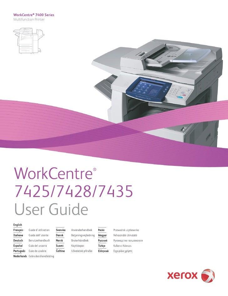 user guide en 7435 rh slideshare net workcentre 7435 user manual xerox 7435 user manual