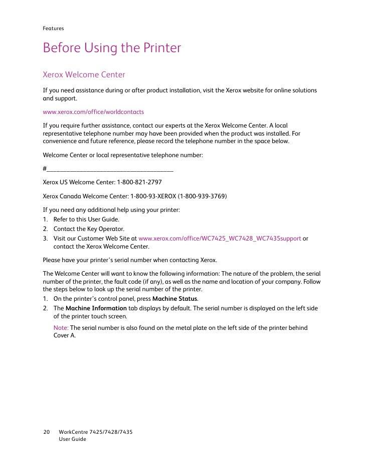 user guide en 7435 rh slideshare net xerox workcentre 7435 user guide workcentre 7435 user manual