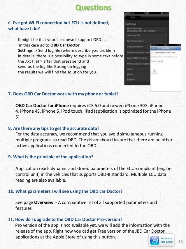 User Guide OBD Car Doctor iOS
