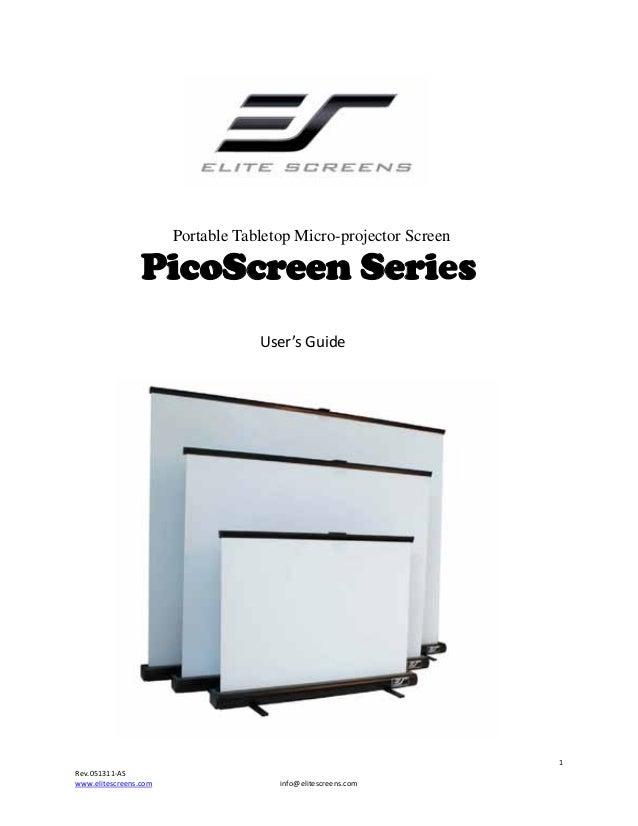 Portable Tabletop Micro-projector Screen  PicoScre...