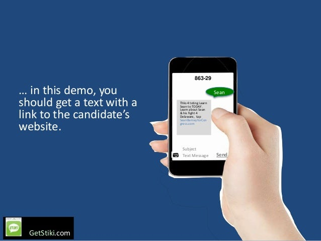 User-initiated texting for political campaigns