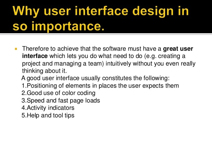 User Interface For Web Design