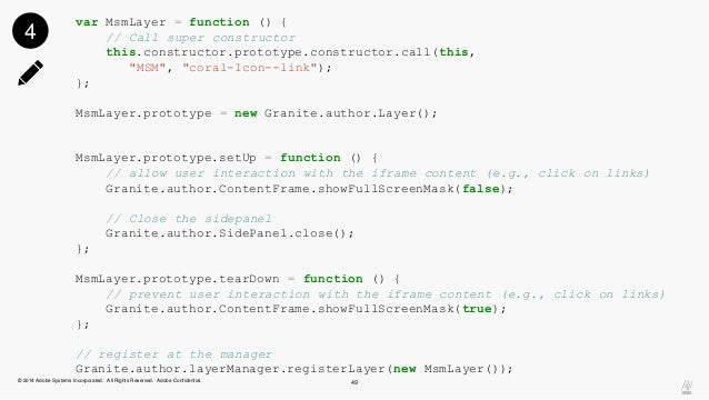 """var MsmLayer = function () {  // Call super constructor  this.constructor.prototype.constructor.call(this,  """"MSM"""", """"coral-..."""