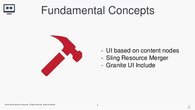 Fundamental Concepts  © 2014 Adobe Systems Incorporated. All Rights Reserved. Adobe Confidential. 5  - UI based on content...