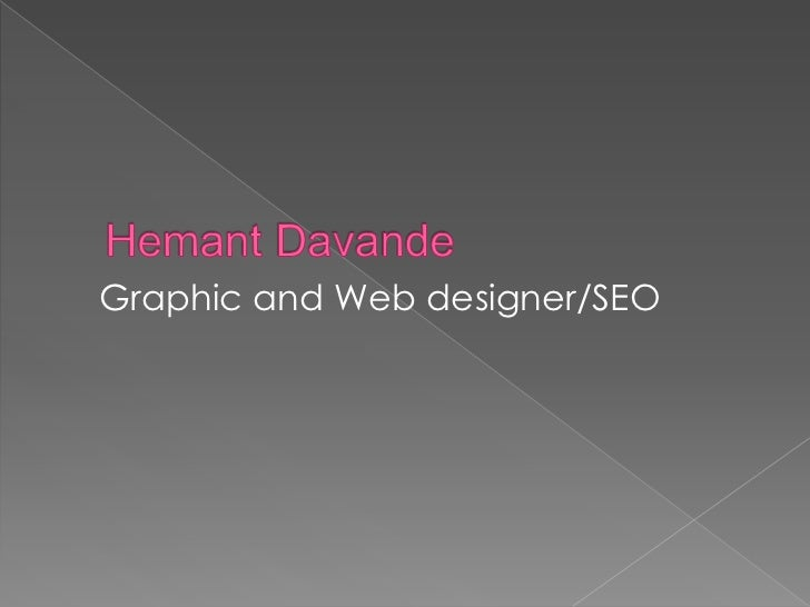 Graphic and Web designer/SEO