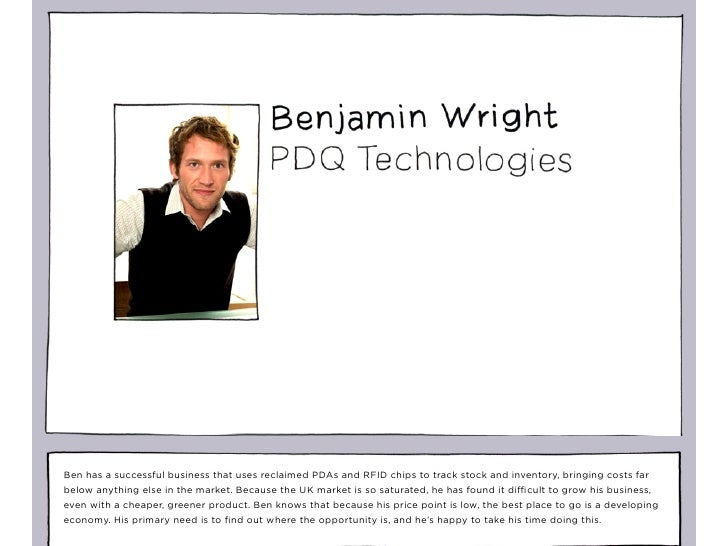 Ben has a successful business that uses reclaimed PDAs and RFID chips to track stock and inventory, bringing costs far bel...
