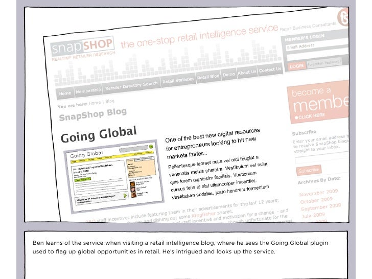 Ben learns of the service when visiting a retail intelligence blog, where he sees the Going Global plugin used to flag up g...