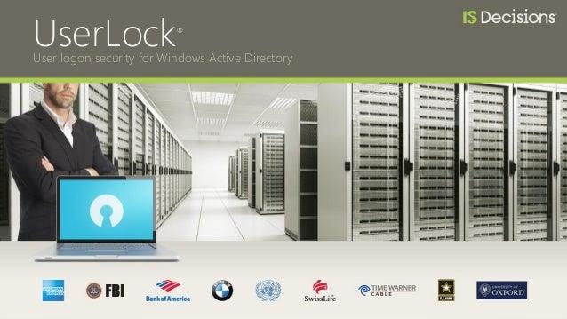 UserLock® User logon security for Windows Active Directory