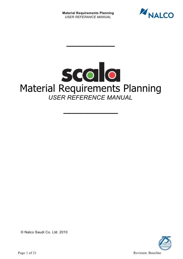 user manual mrp rh slideshare net Material Requirement Planning Spreadsheet Material Requirement Planning PPT