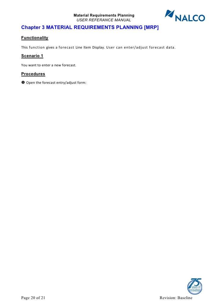 user manual mrp rh slideshare net Material Planning Process Material Planning Process