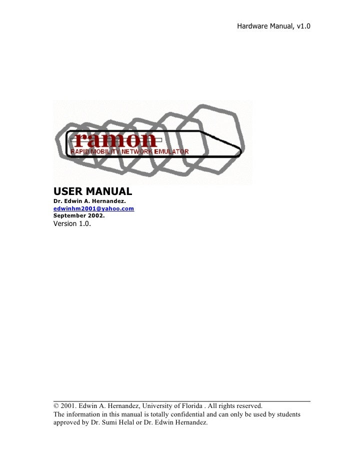 User manual  ramon